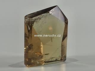 záhněda + leštěný krystal