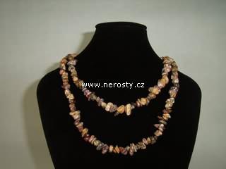 zkamenělé dřevo + náhrdelník