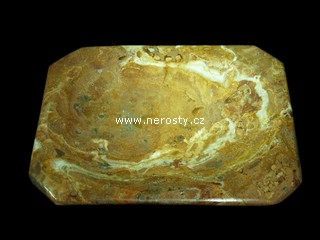 zlatý aragonit + miska